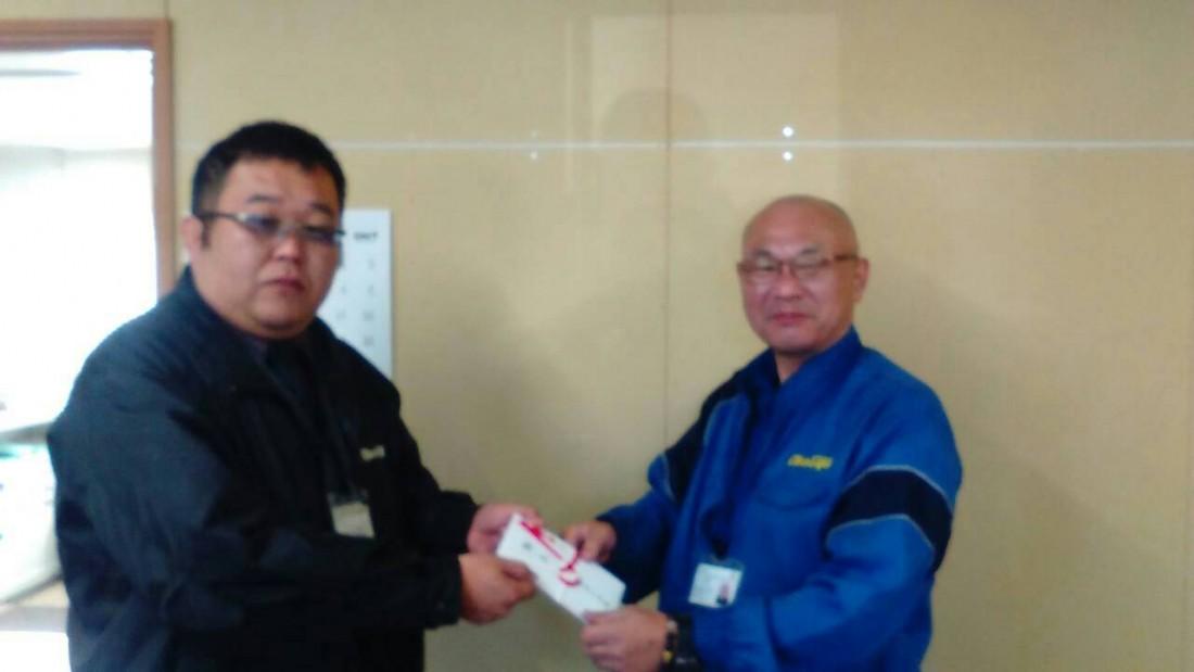 京都営業所のドライバーへ報奨金を支給しました