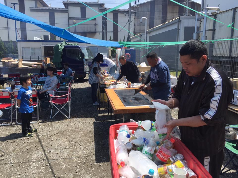 4月24日京都営業所にてバーベキューを開催