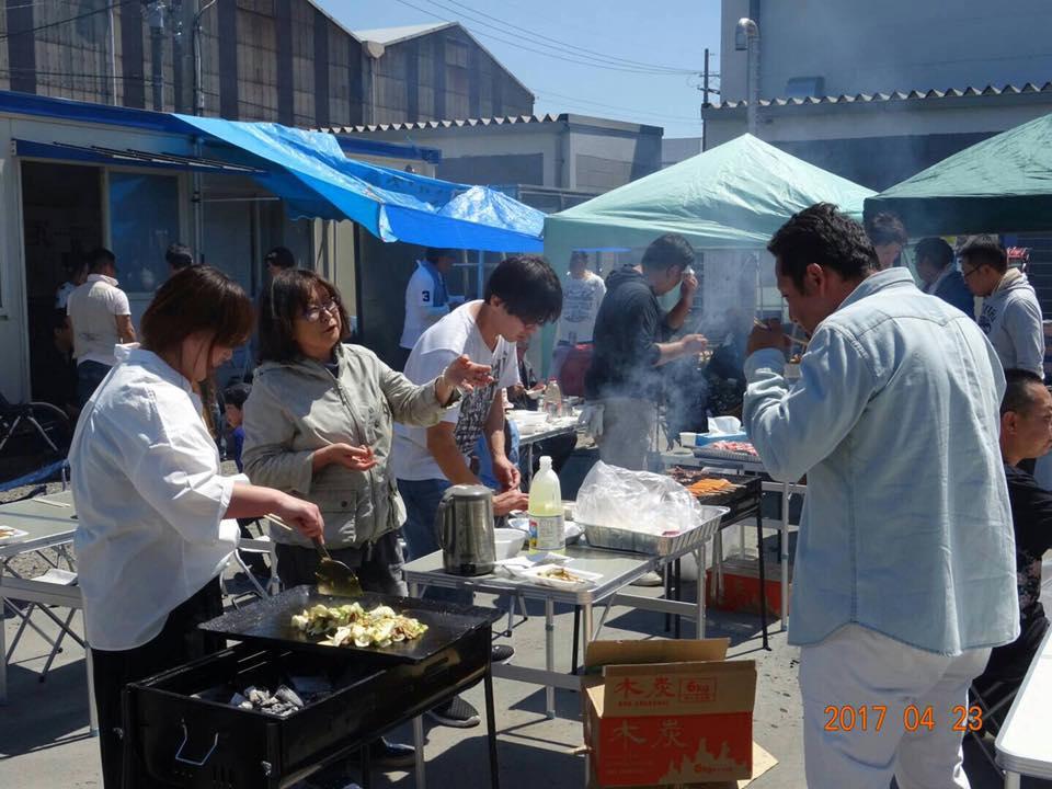 京都営業所でバーベキュー大会開催