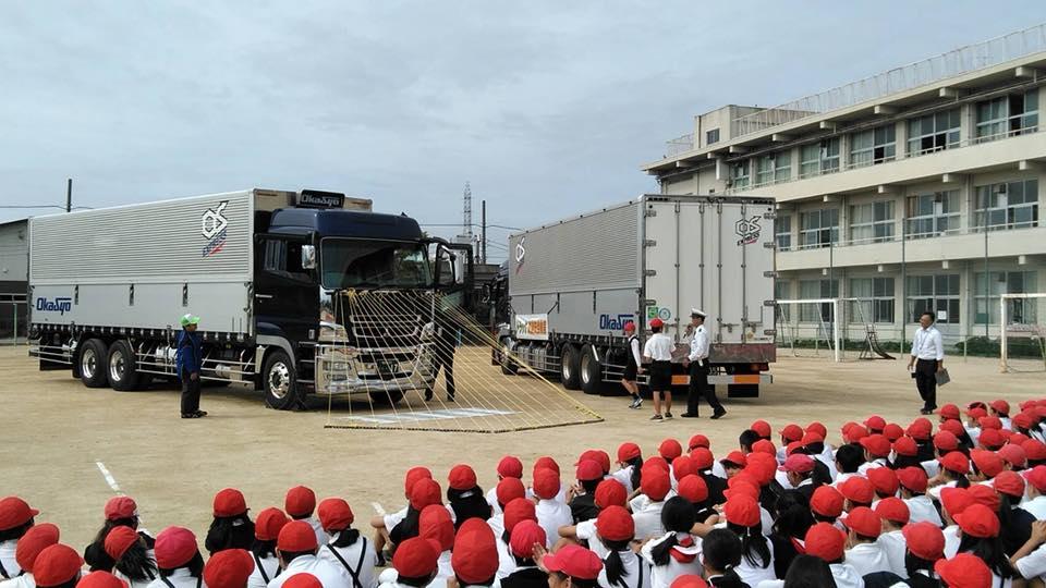 10月5日岡山市中区操南小学校にて交通安全教室開催