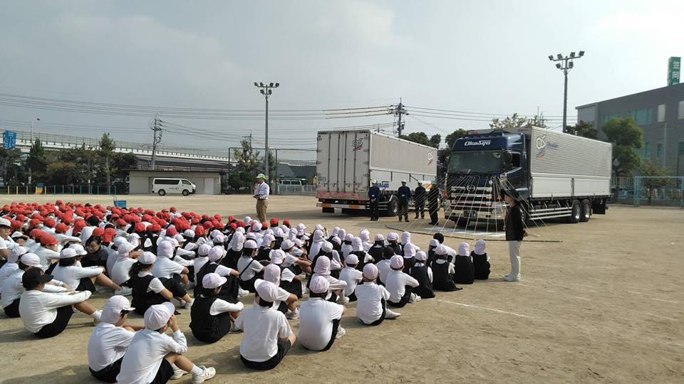 10月11日岡山市南区福浜小学校にて交通安全教室を開催