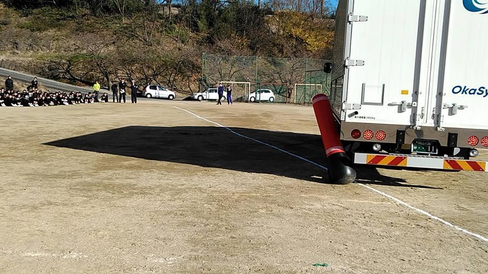 2017年12月5日岡山県倉敷市琴浦中学校で初めての交通安全教室を開催