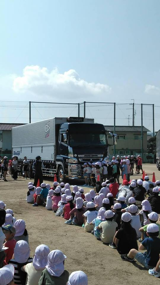 平成30年9月18日岡山市中区操明小学校にて、今年二校目の交通安全教室開催
