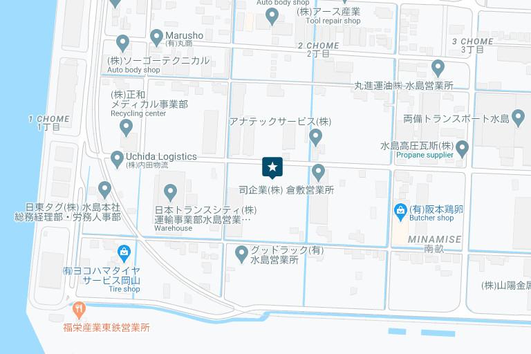 倉敷営業所アクセスマップ