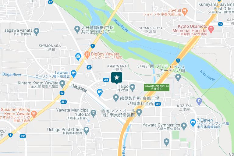 京都営業所アクセスマップ
