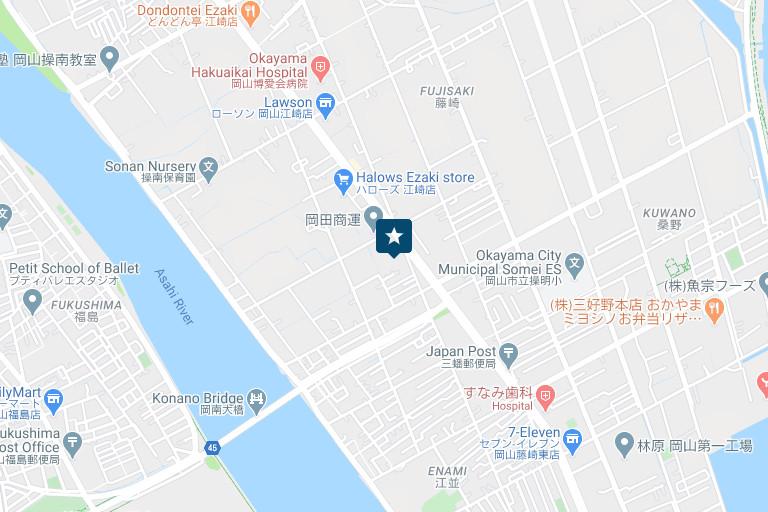 岡山営業所アクセスマップ
