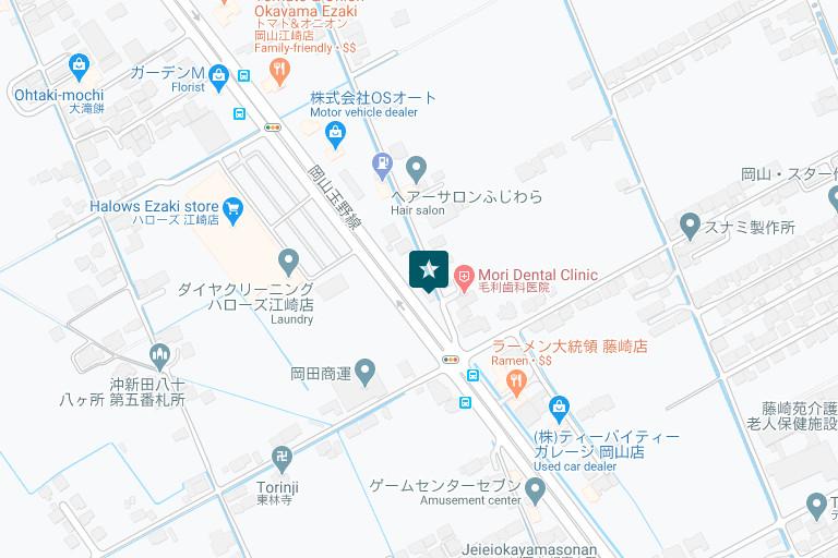 岡山情報センターアクセスマップ