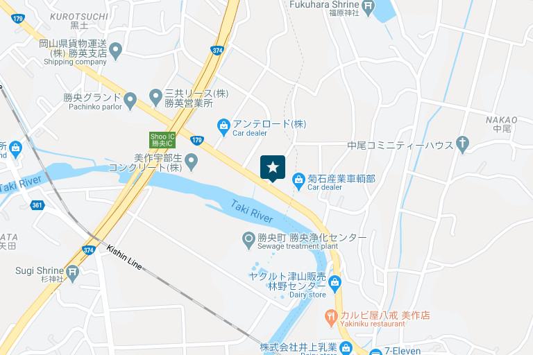 勝央営業所アクセスマップ