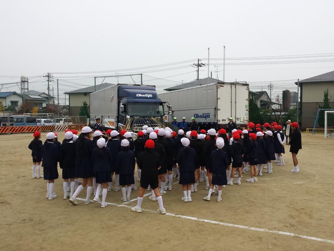 岡山市立南輝小学校で交通安全教室を開催いたしました。