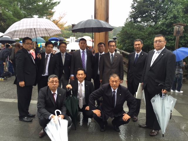 事業繁栄・安全祈願の為、毎年恒例行事の伊勢神宮へ参拝