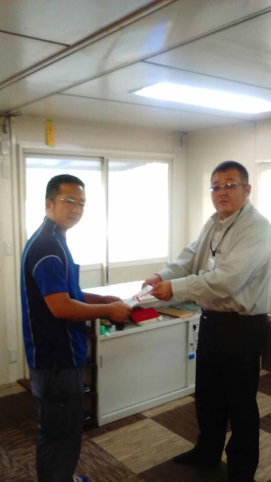 2016年8月2日、京都営業所の林ドライバーが野上ドライバーを紹介した為、ドライ バー報奨金を支給しました。