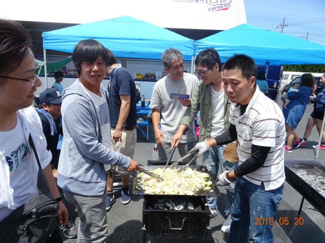 平成30年5月20日京都営業所で親睦バーベキューを開催